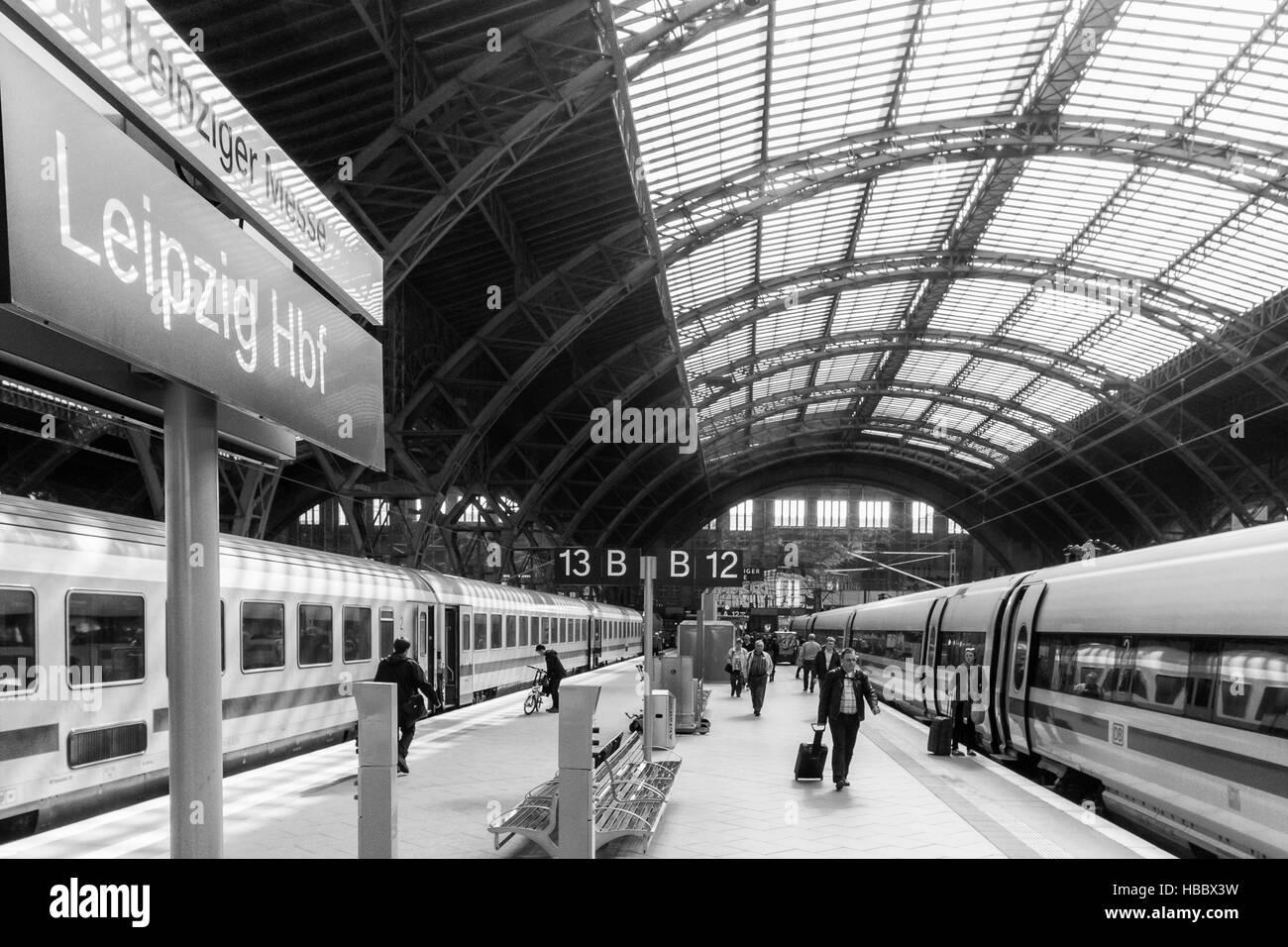 Leipzig Central Station Stock Foto