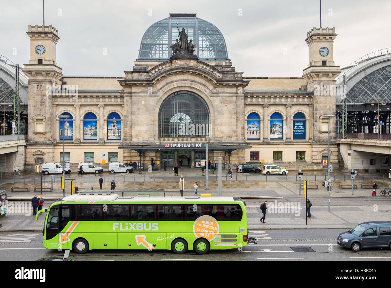 Coach of Flixbus in Dresden Stock Foto
