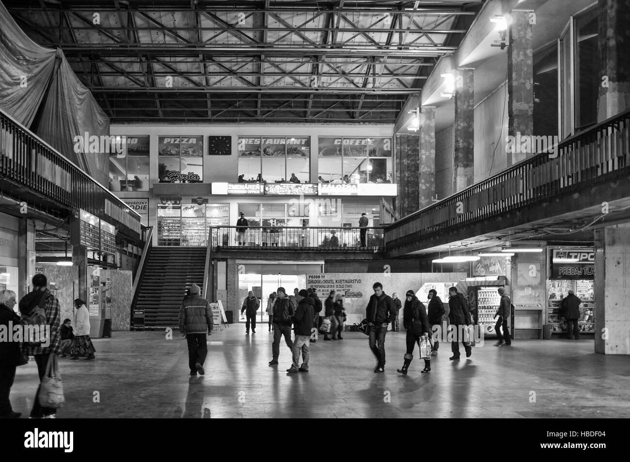 Railway station in Kosice (Slovakia) Stock Foto