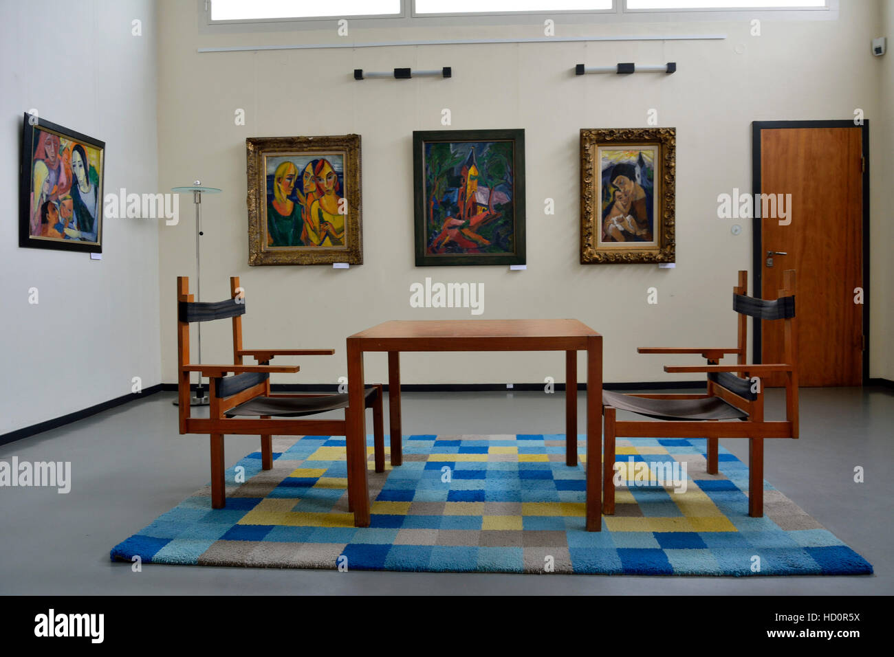 interior of the haus am horn building in weimar stock photo royalty free image 128481302 alamy. Black Bedroom Furniture Sets. Home Design Ideas
