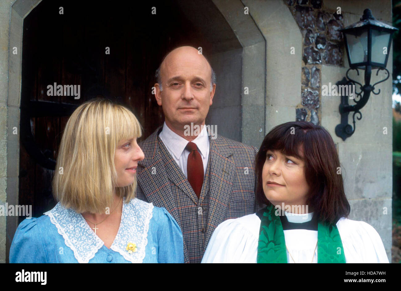 THE VICAR OF DIBLEY, (from left): Emma Chambers, Gary Waldhorn, Dawn French, (Season 1), 1994-2007. photo: ©BBC Stock Photo