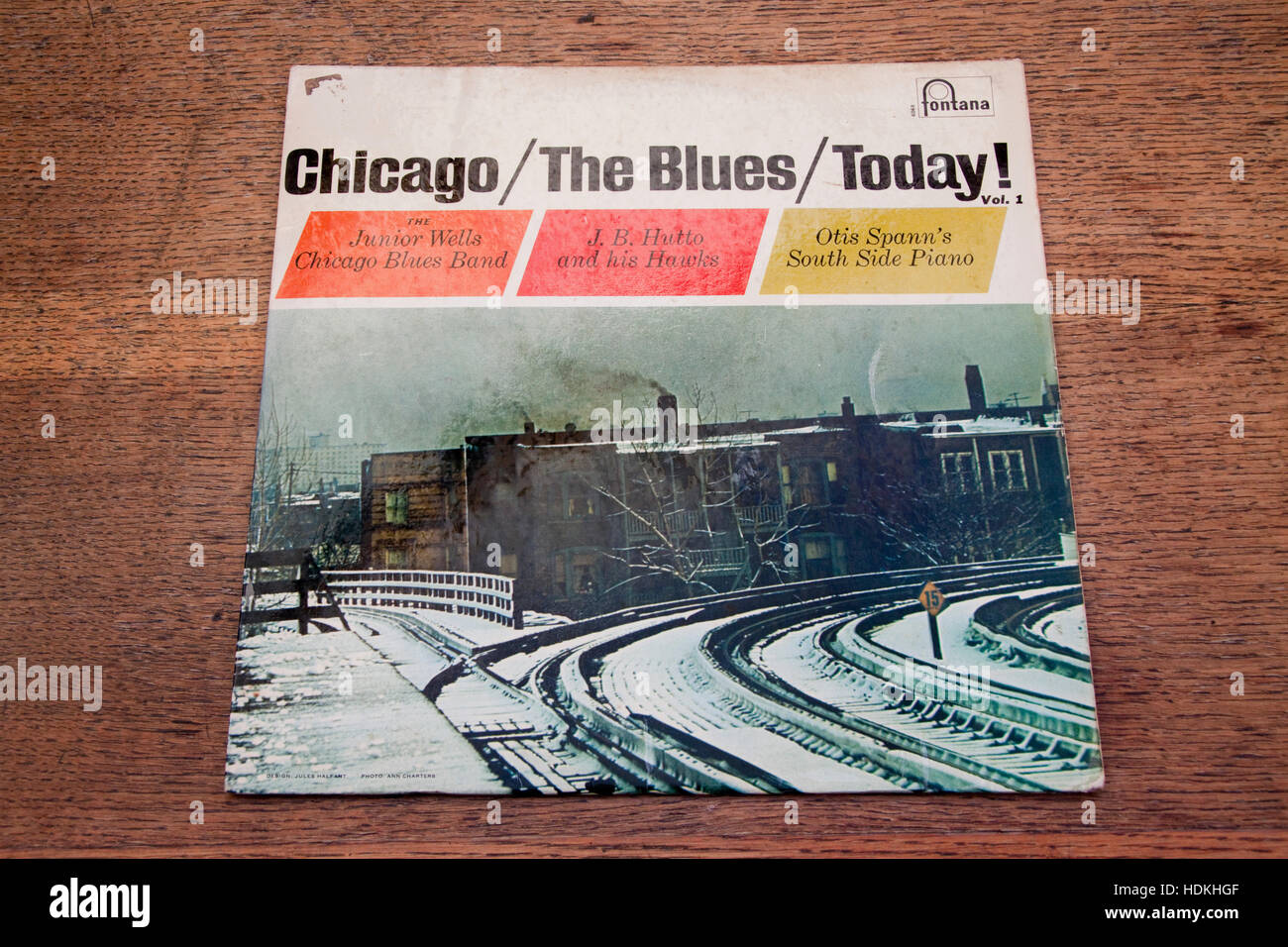 Volume one of three volume set  Chicago The Blues Today! Stock Photo