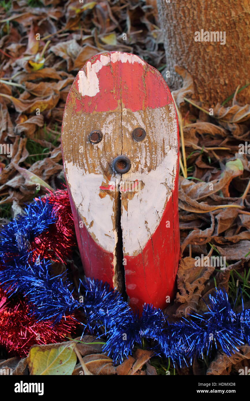 Santa Claus Wooden Hand Made And Ready To Deliver Gifts