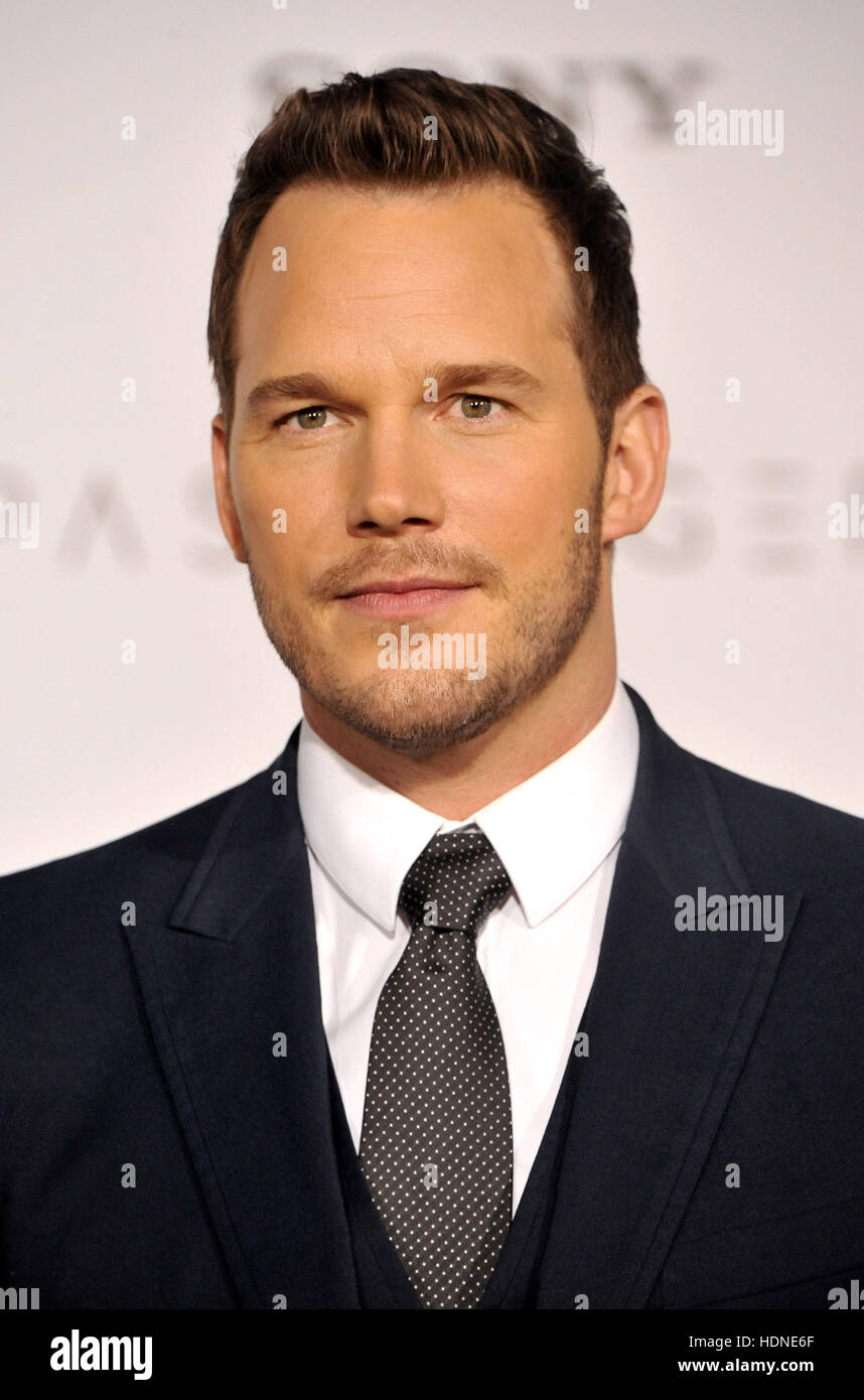 Westwood, USA. 14th Dec, 2016. Chris Pratt at the Los Angeles premiere of 'Passengers' held at the Regency Village Stock Photo