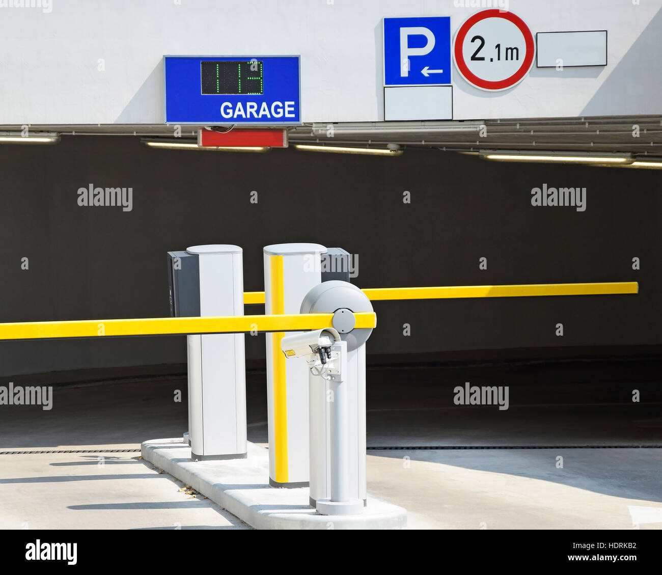 Parking lot gate and entrance stock photo royalty free