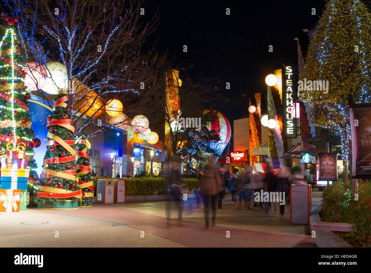 Disney Village at Christmas Stock Photo