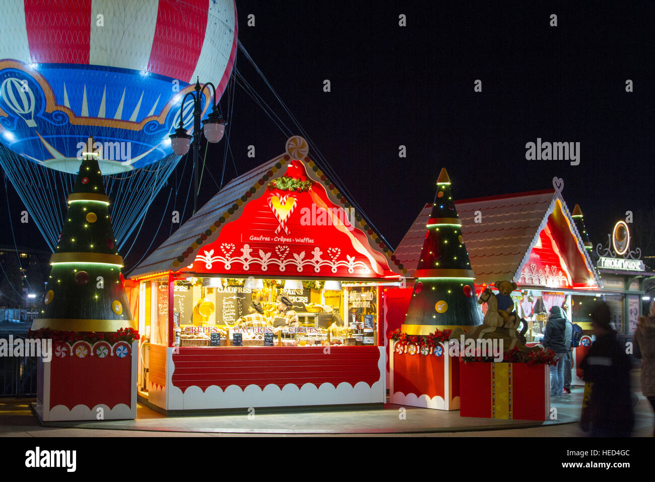 Disney Village at Christmas Stock Photo