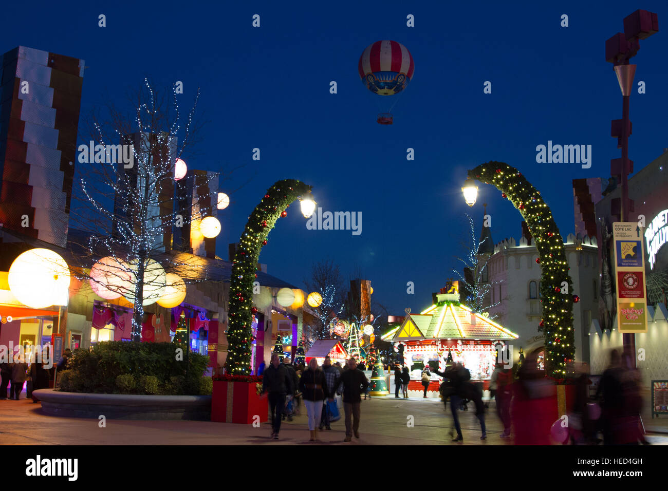 Disney Village at Christmas Marne La Vallee France Stock Photo