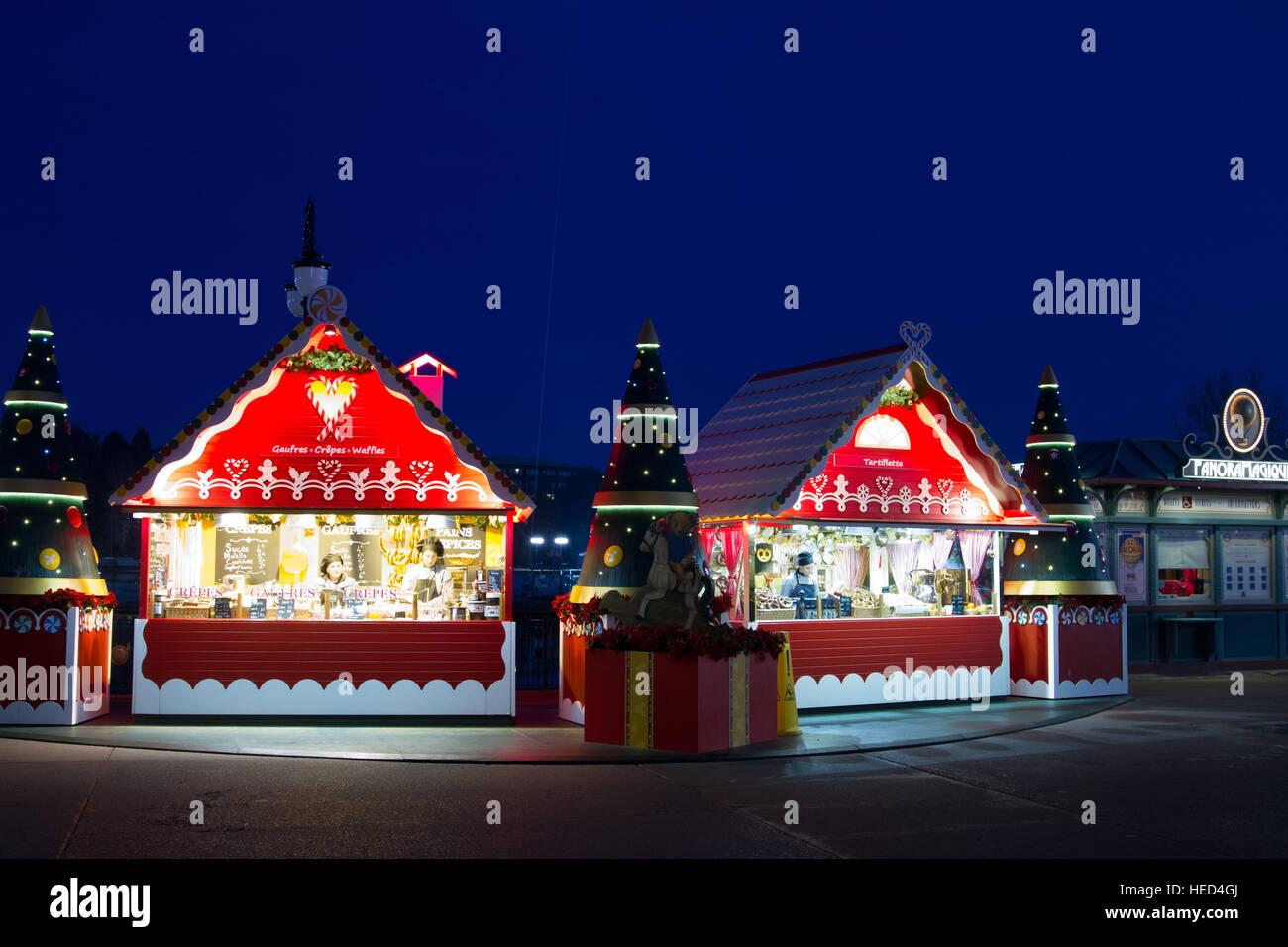Disney village at Christmas Marne La Vallee France Stock Photo