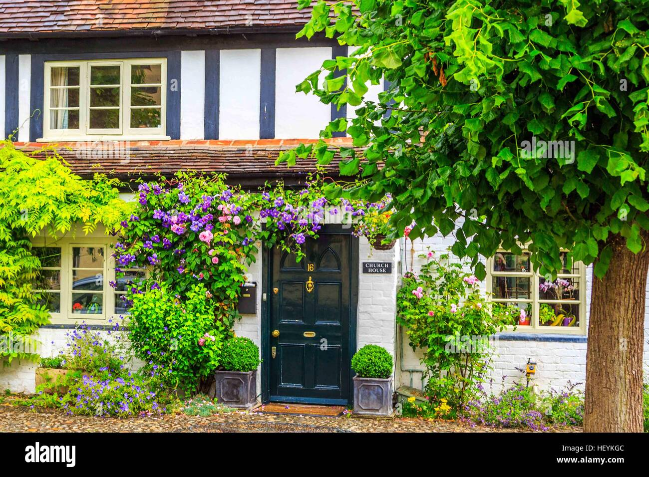 a lovely cottage in Ross on Wye, Hereford Stock Photo