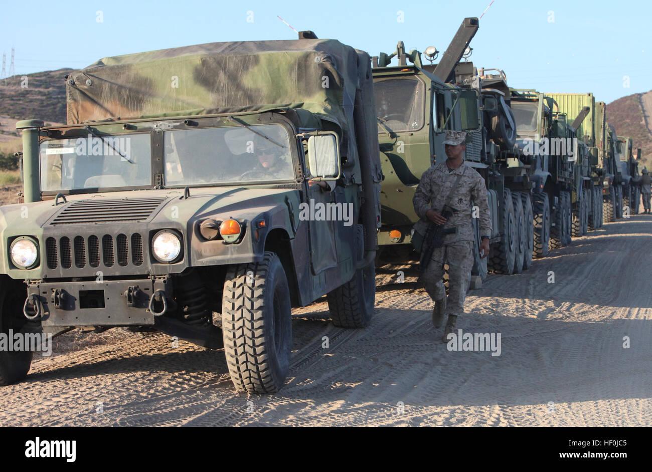 Marines With Motor Transport Company Combat Logistics