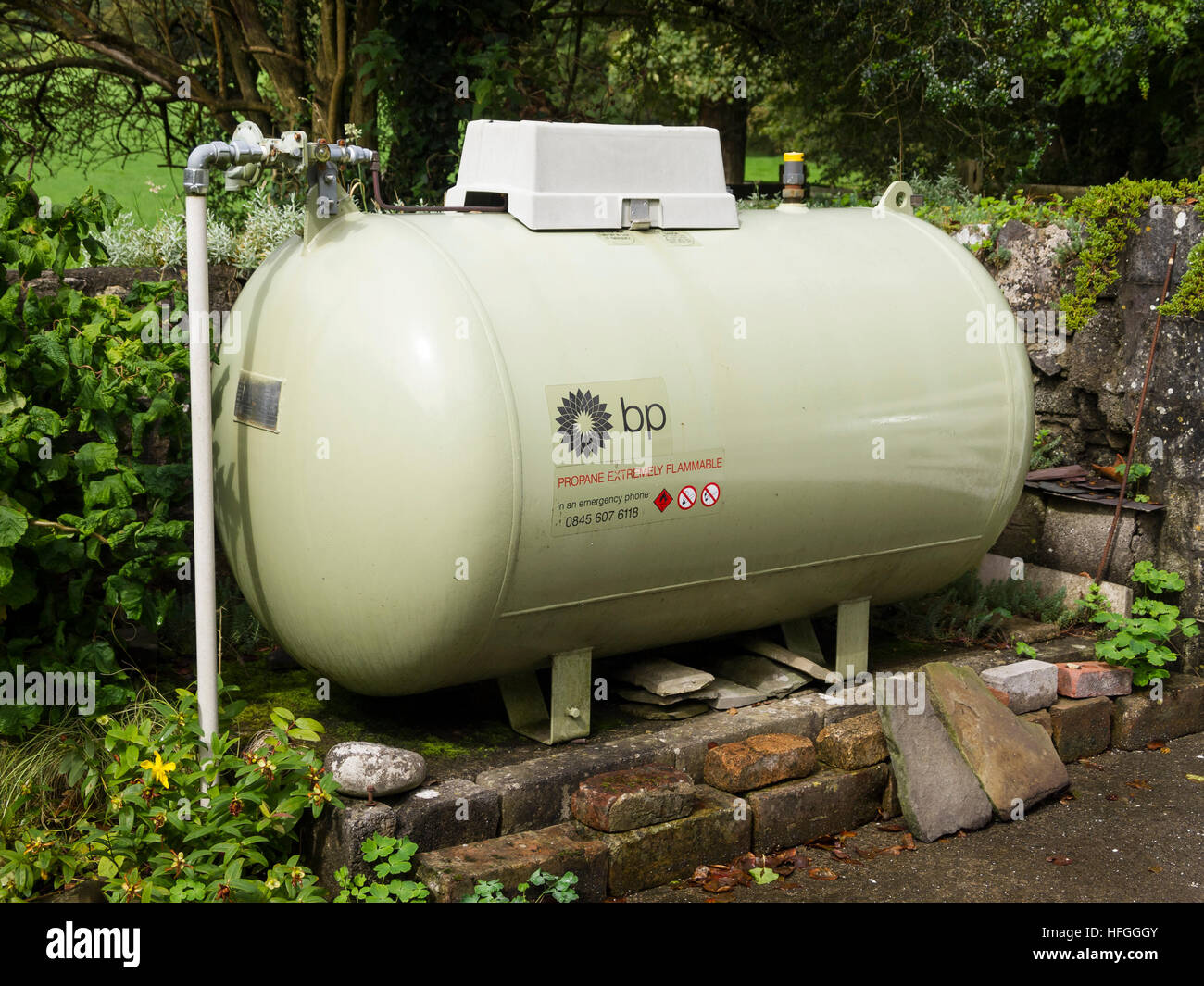 Lpg Gas Storage Tank Rural Location Stock Photo Royalty