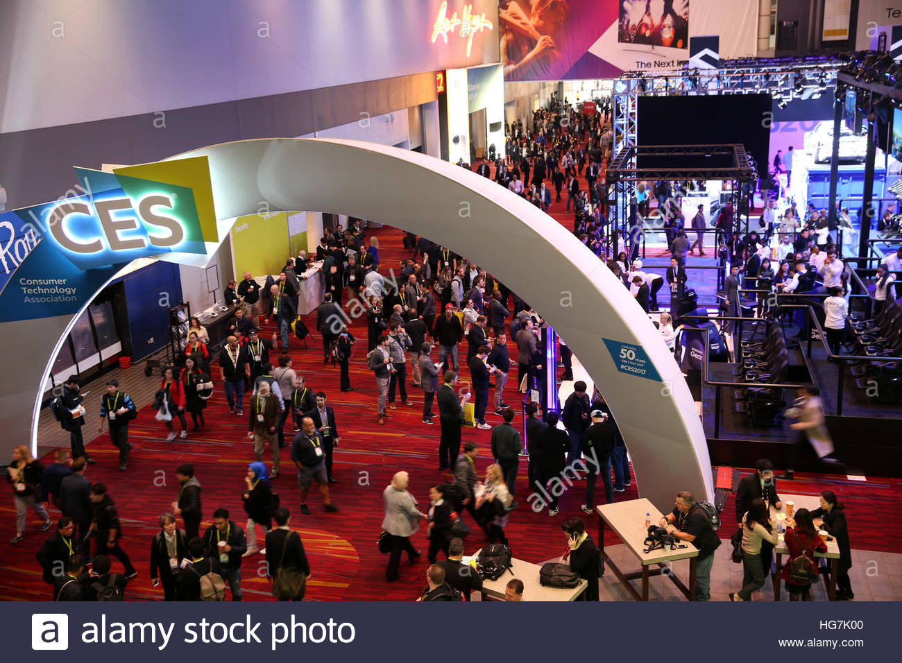 The lobby of the Las Vegas Convention Center is shown during the 2017 CES in Las Vegas, Nevada, U.S., January 5, Stock Photo