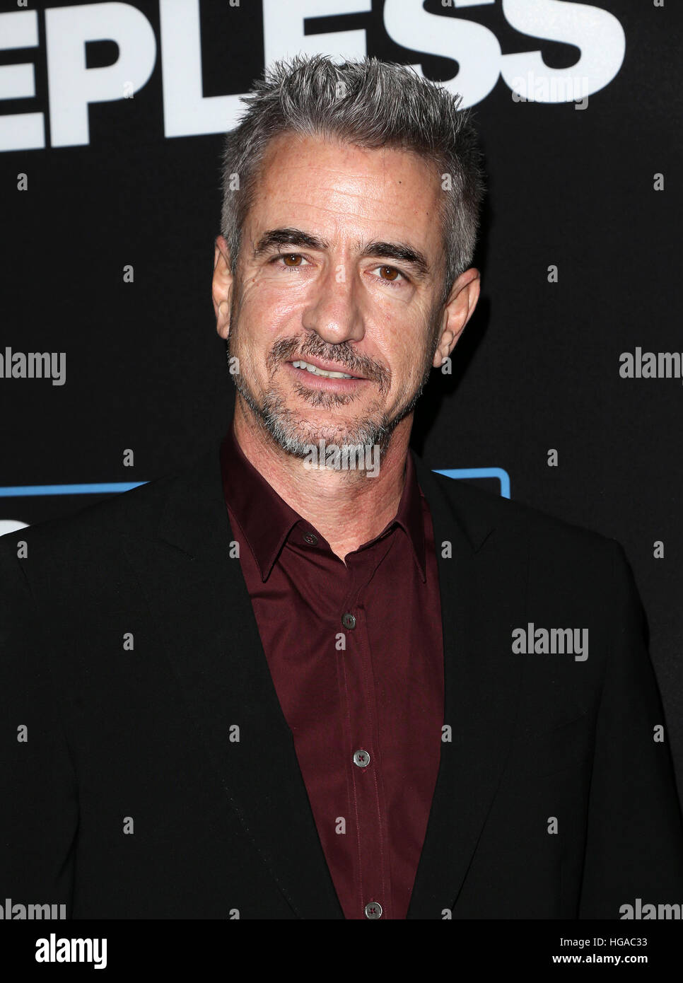 "Los Angeles, CA - JANUARY 05: Dermot Mulroney, At Premiere Of Open Road Films' ""Sleepless"", At Regal LA Live Stadium Stock Photo"
