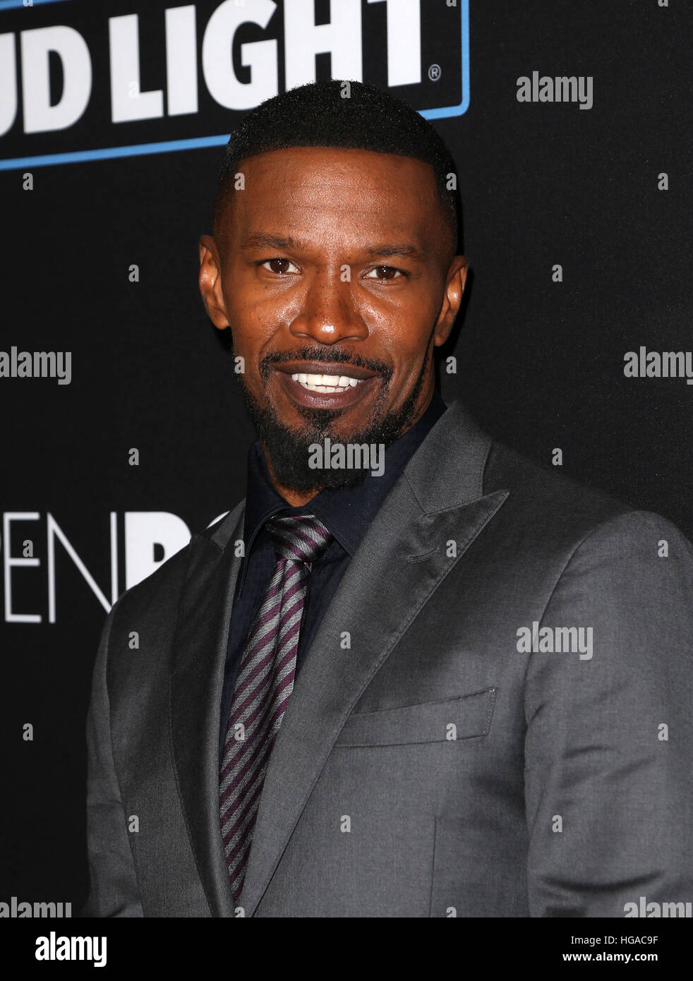 """Los Angeles, CA, USA. 05th Jan, 2017. Jamie Foxx, At Premiere Of Open Road Films' """"Sleepless"""", At Regal LA Live Stock Photo"""