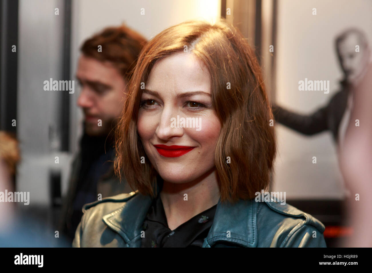 Edinburgh, UK. 22nd January, 2017. T2 Trainspotting premiere at Edinburgh Cineworld. Scotland. Pictured Kelly Macdonald. Stock Foto