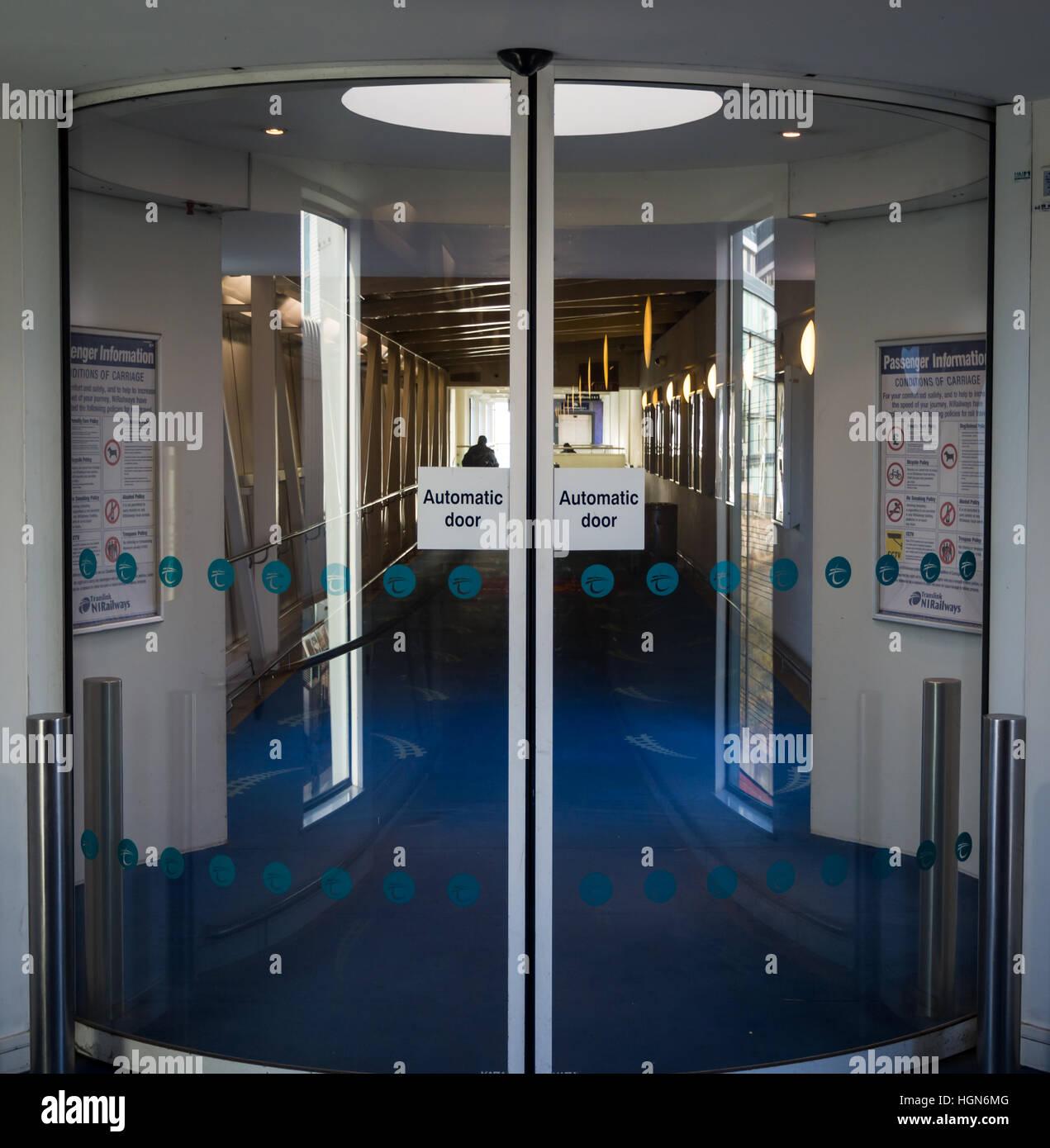 Automatic doors Stock Photo