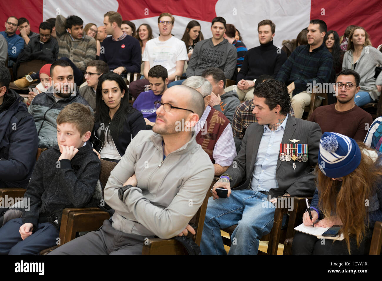 london-ontario-canada-13th-january-2017-members-of-the-audience-wait-HGYWJR.jpg