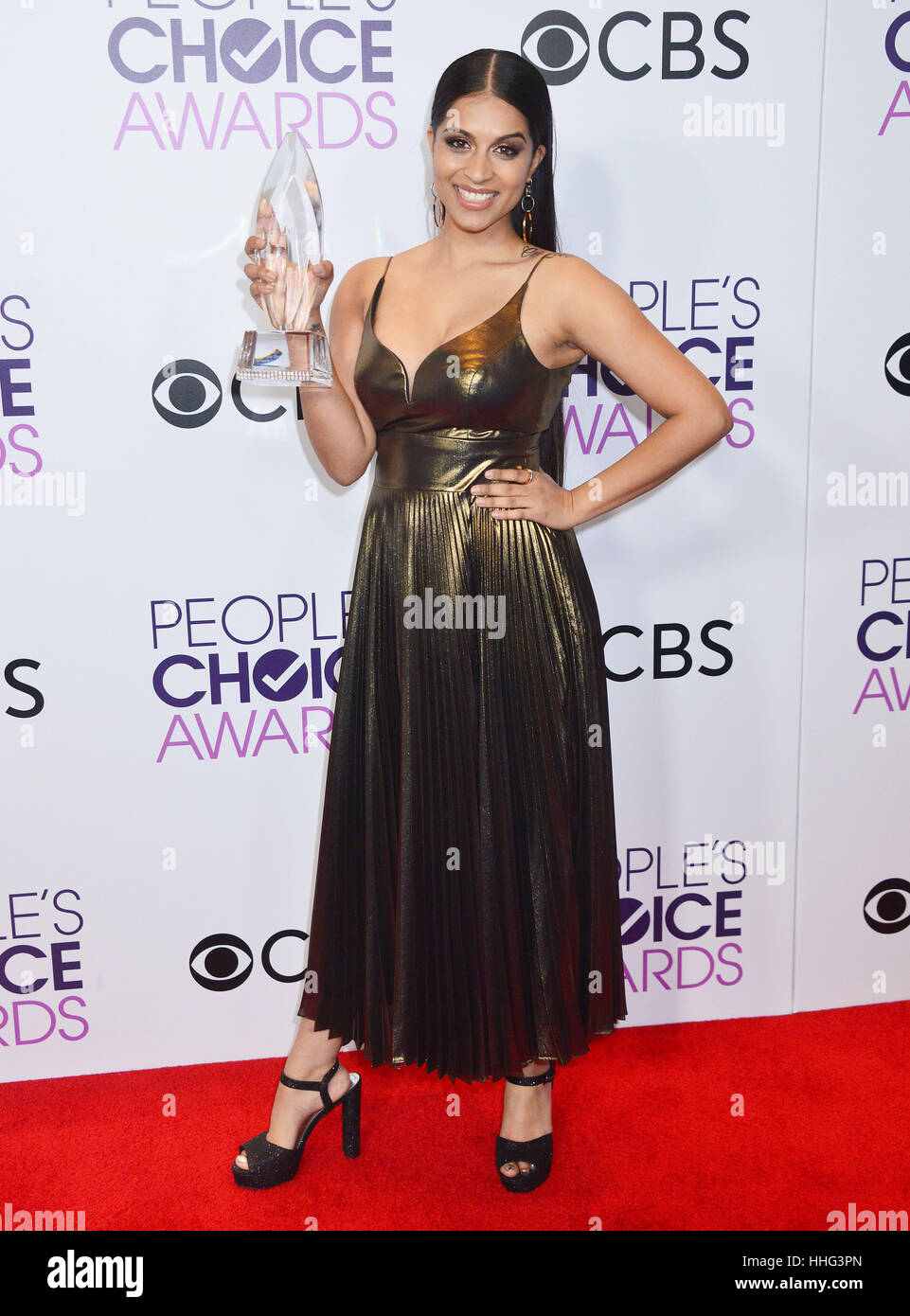 Lilly Singh 269 arriving at the People's Choice Awards 2017 at the Microsoft Theatre in Los Angeles. January 18, Stock Foto