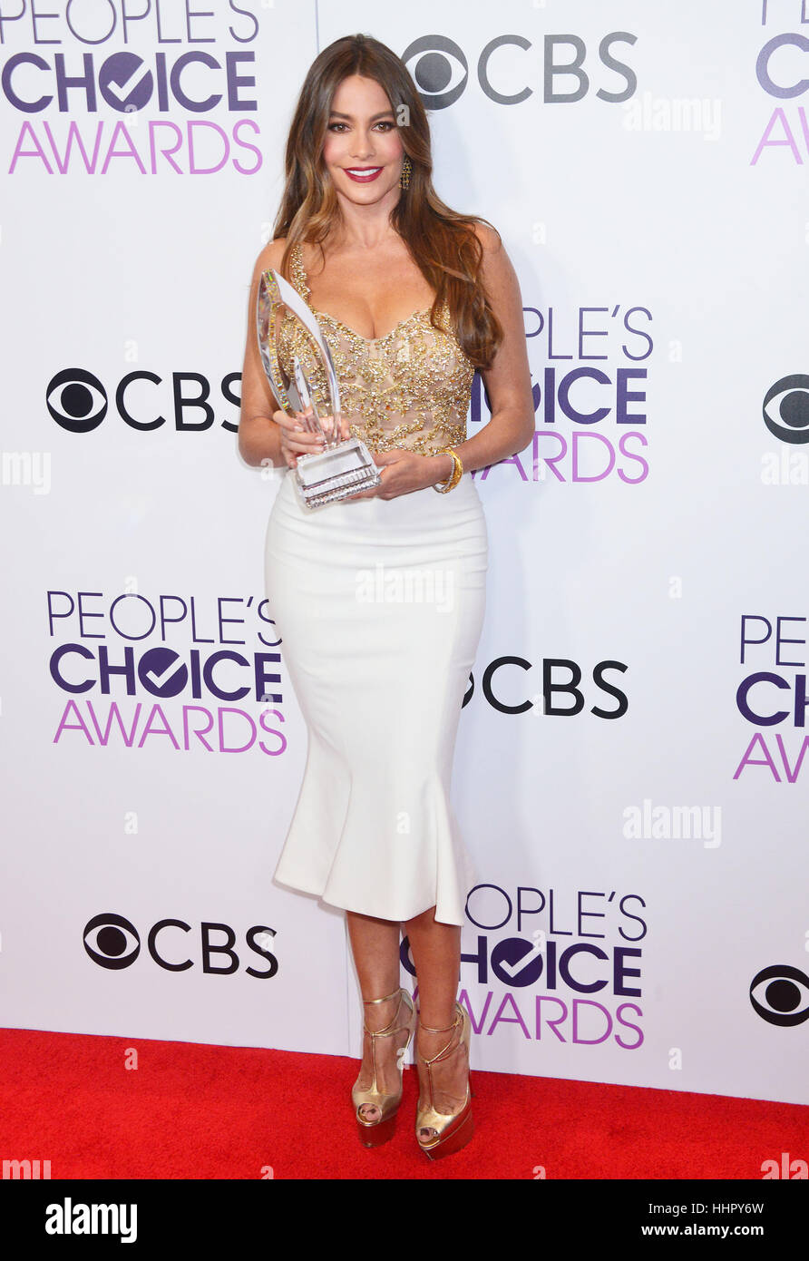 Sofia Vergara 213 arriving at the People's Choice Awards 2017 at the Microsoft Theatre in Los Angeles. January 18, Stock Foto