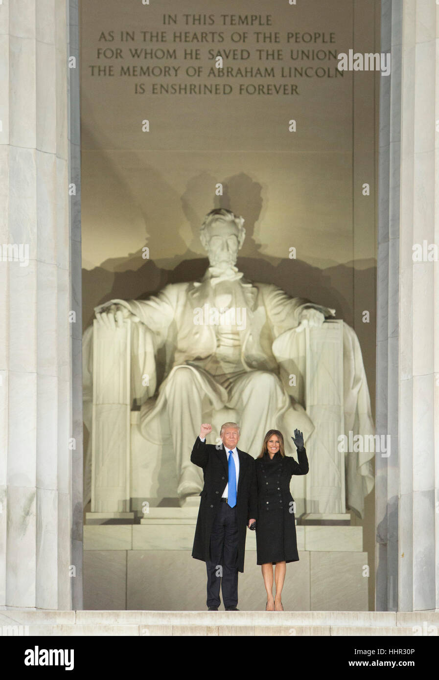 Arlington, USA. 19th Jan, 2017. President-elect of The United States Donald J. Trump and FIRST LADY-elect of The Stock Foto