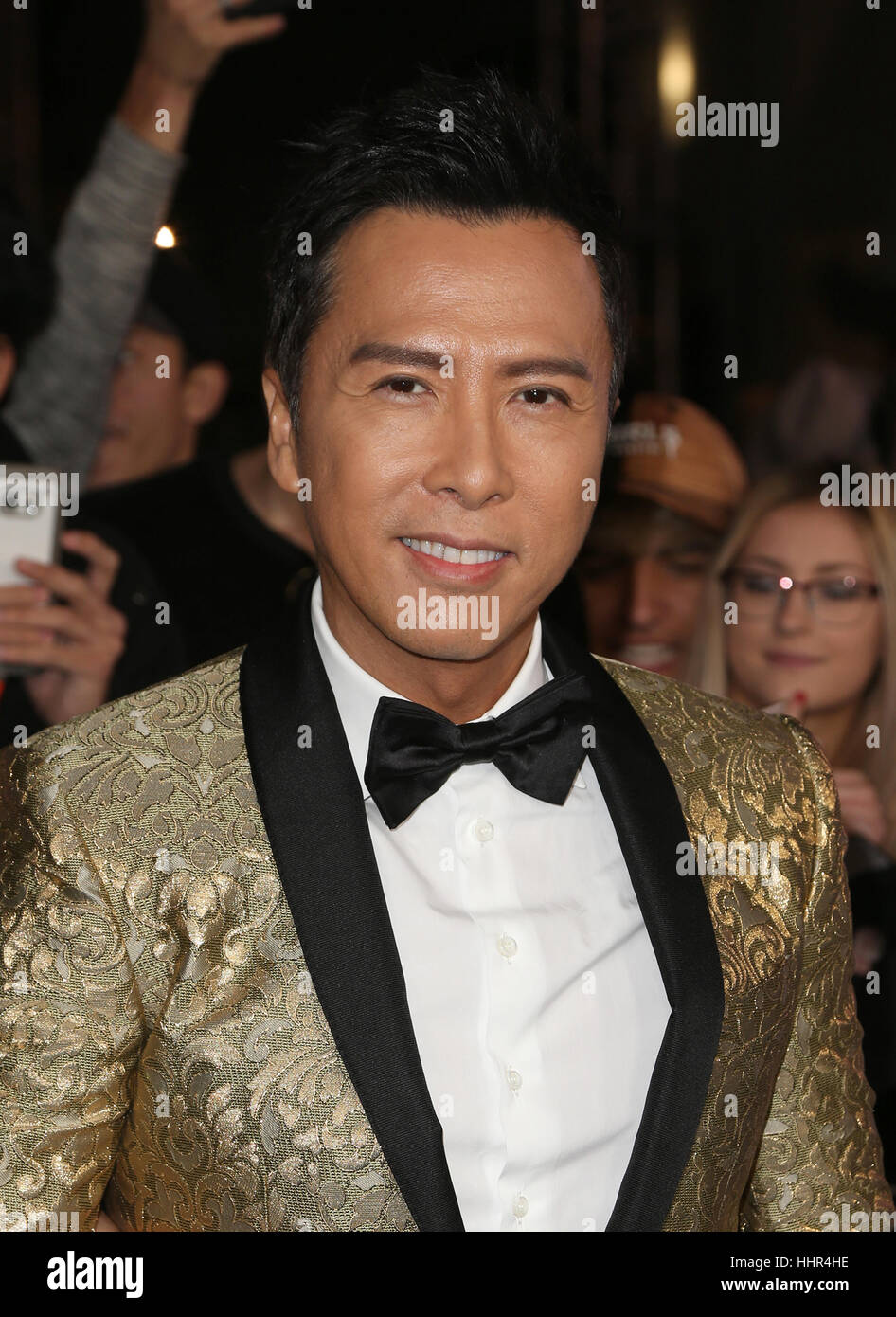 "Hollywood CA - JANUARY 19: Donnie Yen, At Premiere Of Paramount Pictures' ""xXx: Return Of Xander Cage"", At TCL Chinese Stock Foto"