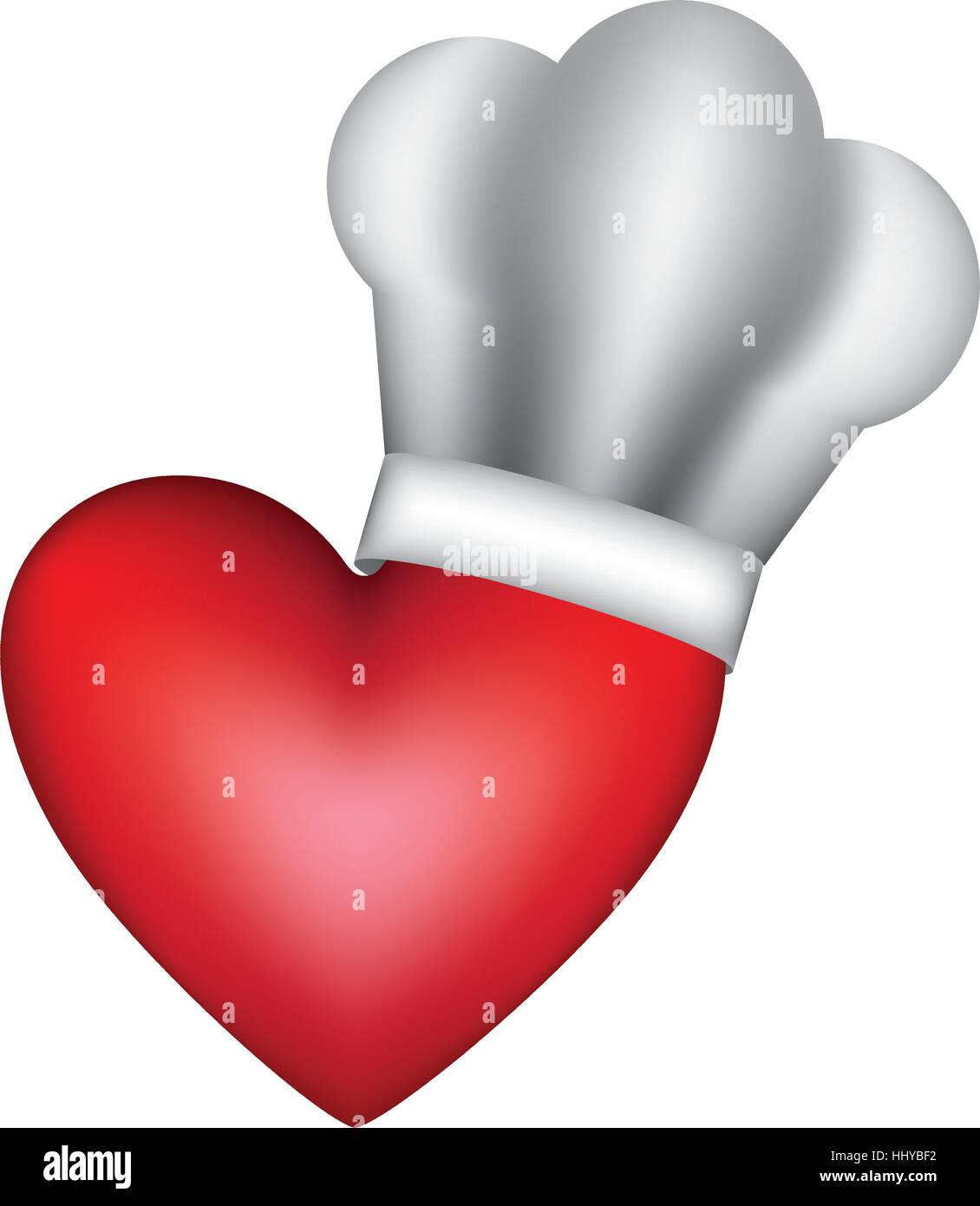 realistic silhouette of chefs hat with heart vector Cute Chef Clip Art Female Chef Clip Art