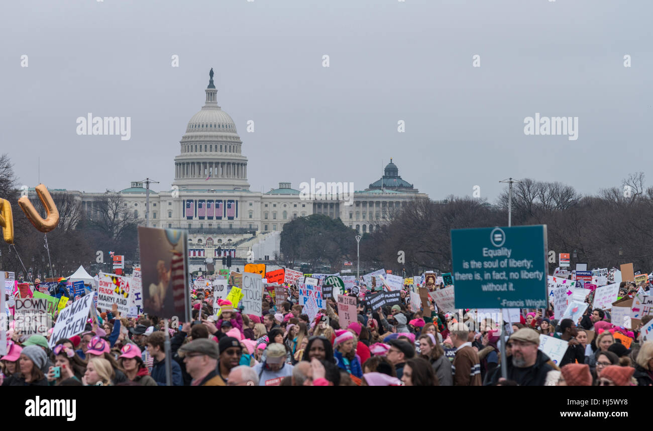 Women's March Washington DC January 21,2017 Stock Foto
