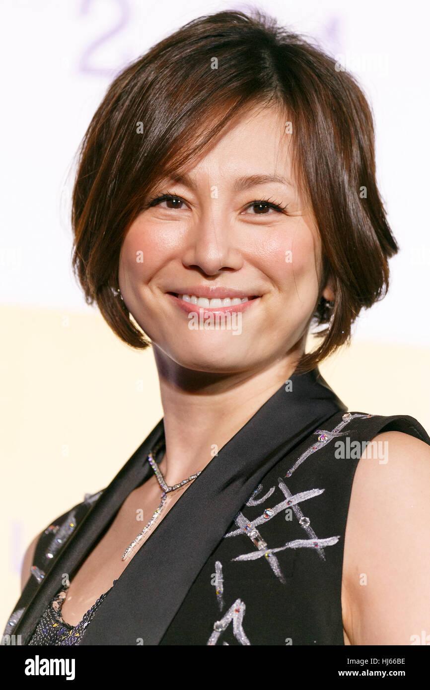 Tokyo, Japan. 26th Jan, 2017. Japanese actress Ryoko ...