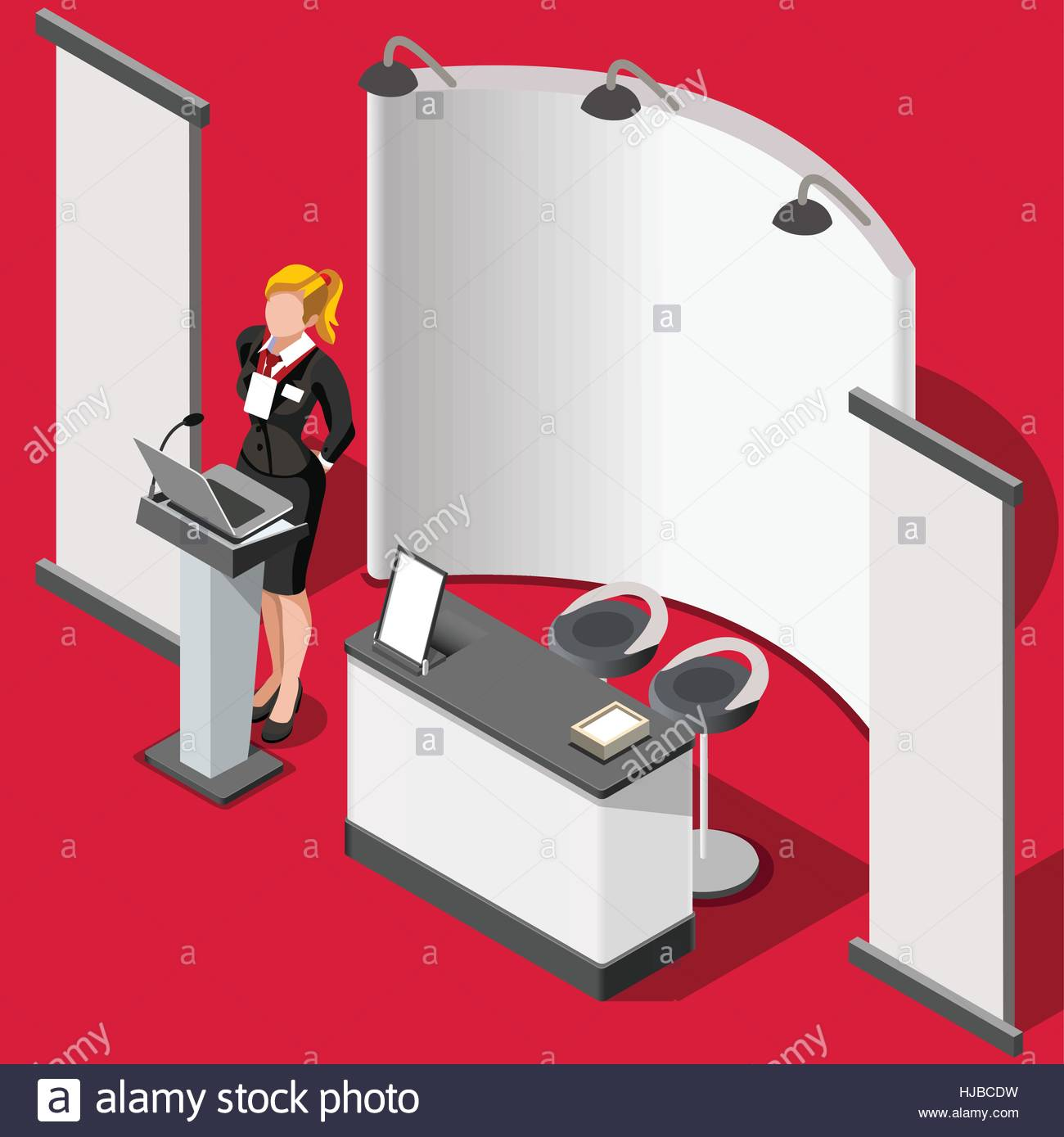 Exhibition Stand Design Vector : Exhibition booth stand desk roll up display panel d