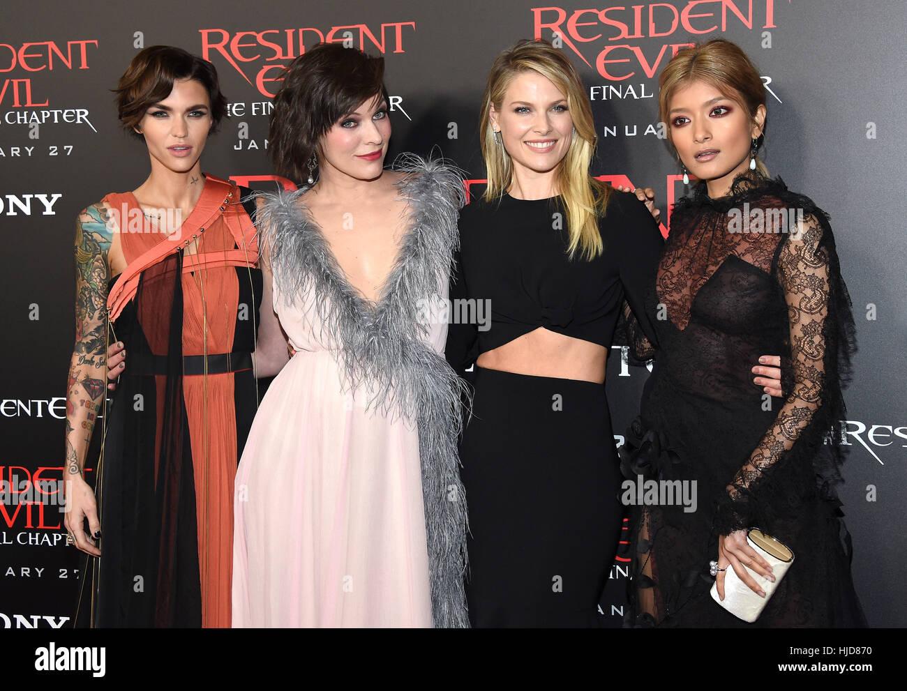 Wallpaper Milla Jovovich Ali Larter Ruby Rose Resident: Hollywood, California, USA. 23rd Jan, 2017. Ruby Rose