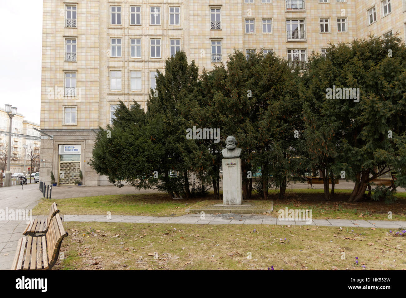 Stock photo blue house building city town berlin germany german federal republic