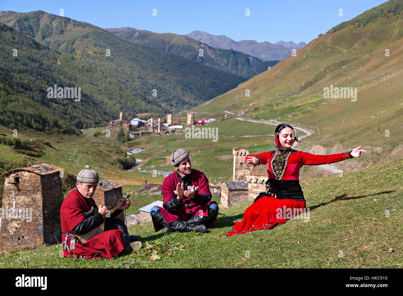 Georgian Souvenirs Stock Photos Georgian Souvenirs Stock: Georgian People In National Costumes Sing And Dance In