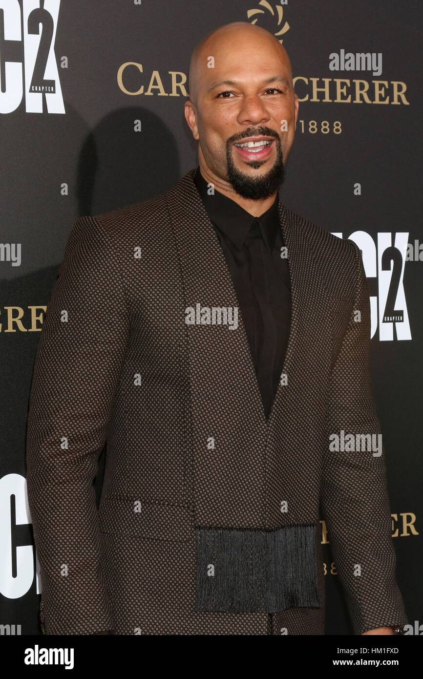 Los Angeles, CA, USA. 30th Jan, 2017. Common at arrivals for JOHN WICK: CHAPTER TWO Premiere, Arclight Hollywood, Stock Foto