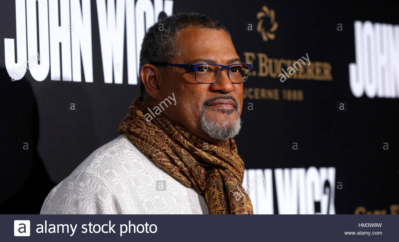 """Cast member Laurence Fishburne poses at the premiere of the movie """"John Wick: Chapter 2"""" in Los Angeles, California Stock Foto"""