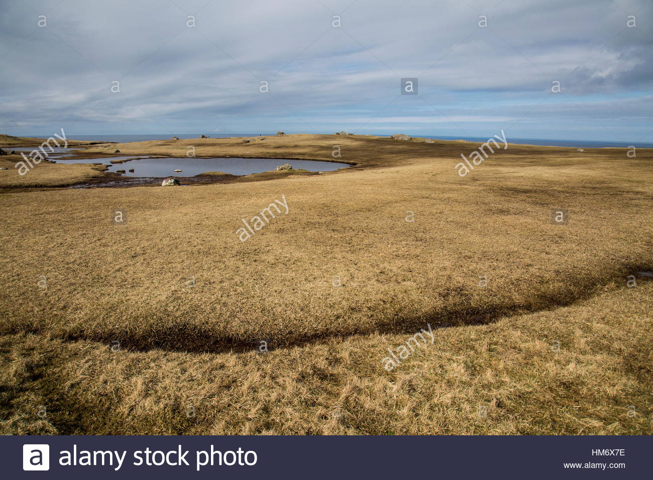 Land Sky Water Shetland Stock Photo