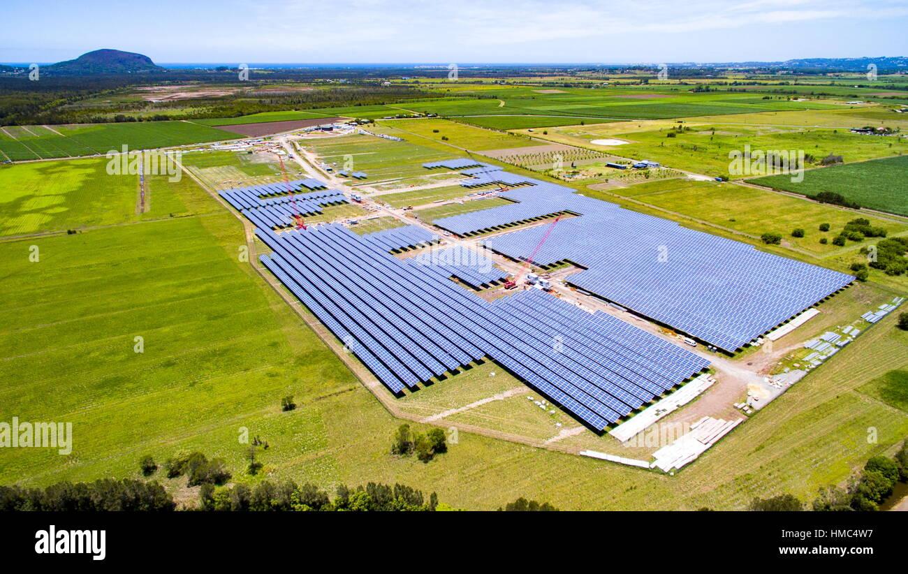 The Sunshine Coast Solar Farm At Valdora Near Yandina And