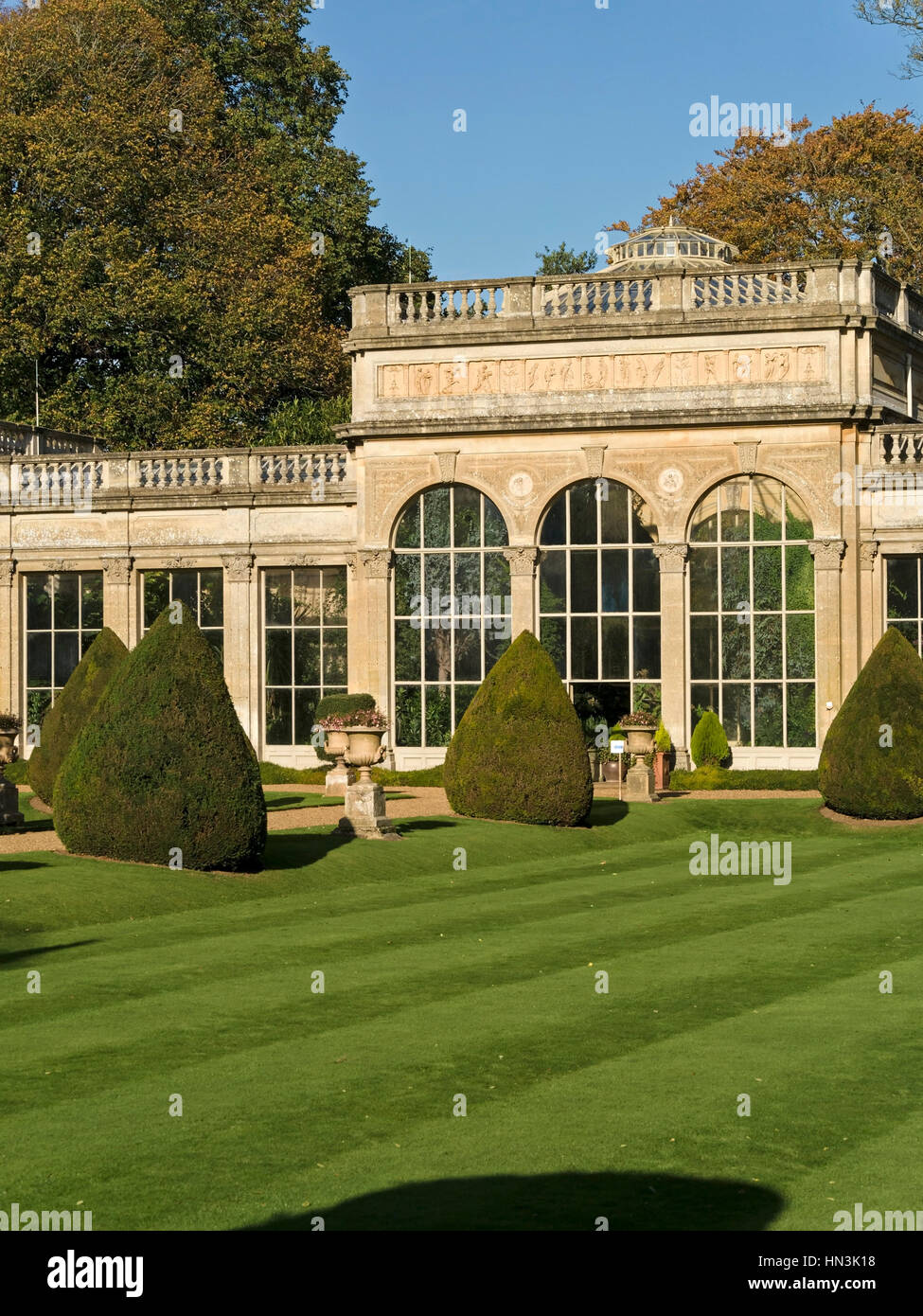 Orangery and italian garden at castle ashby house and for Ashby house