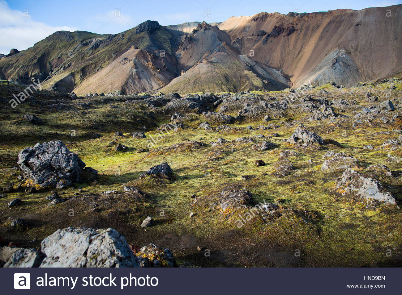 Exploring Iceland Nature Reserve Stock Photo