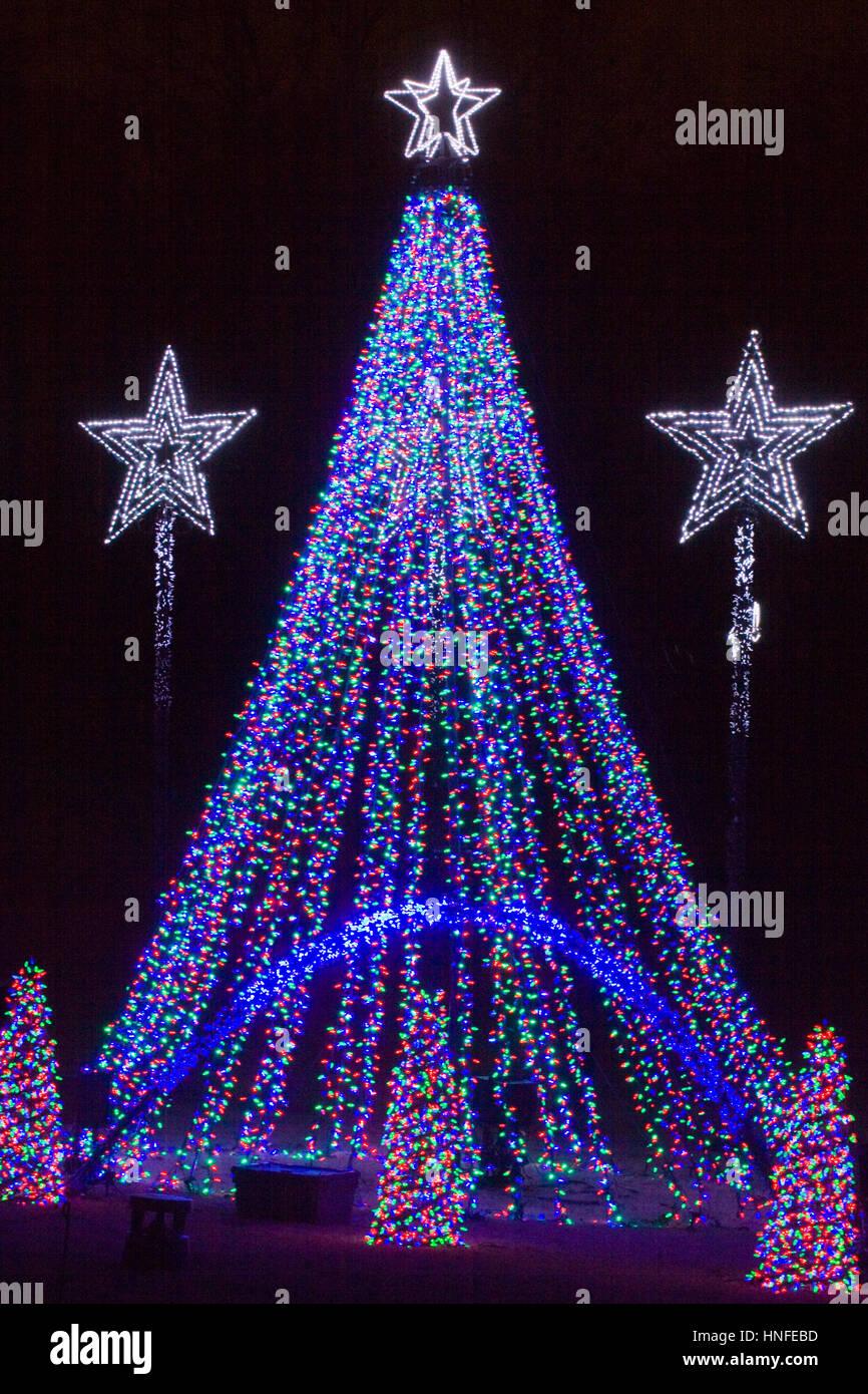 Christmas tree lights at meadowlark botanical gardens Meadowlark botanical gardens lights