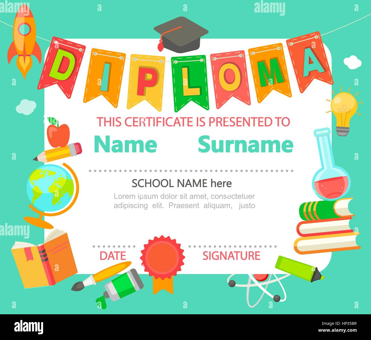 preschool diploma certificate template 6 the best template collection - Preschool Certificate Template