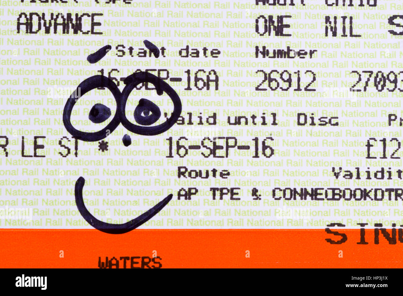 smile-smiley-face-train-ticket-HP3J1X.jp