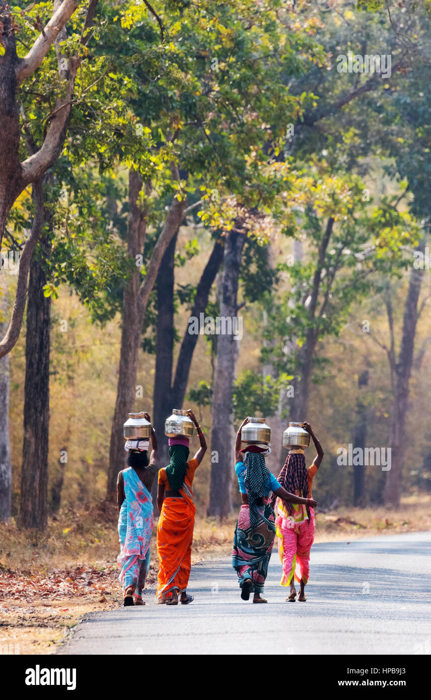 indian-women-carrying-gourds-on-their-he