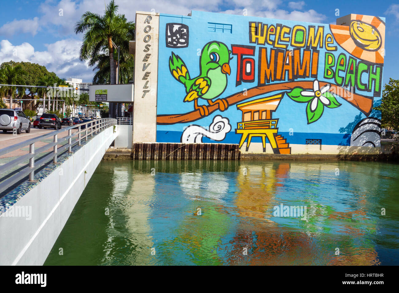 Miami beach florida 41st street arthur godfrey road bridge for Canal fluminense mural