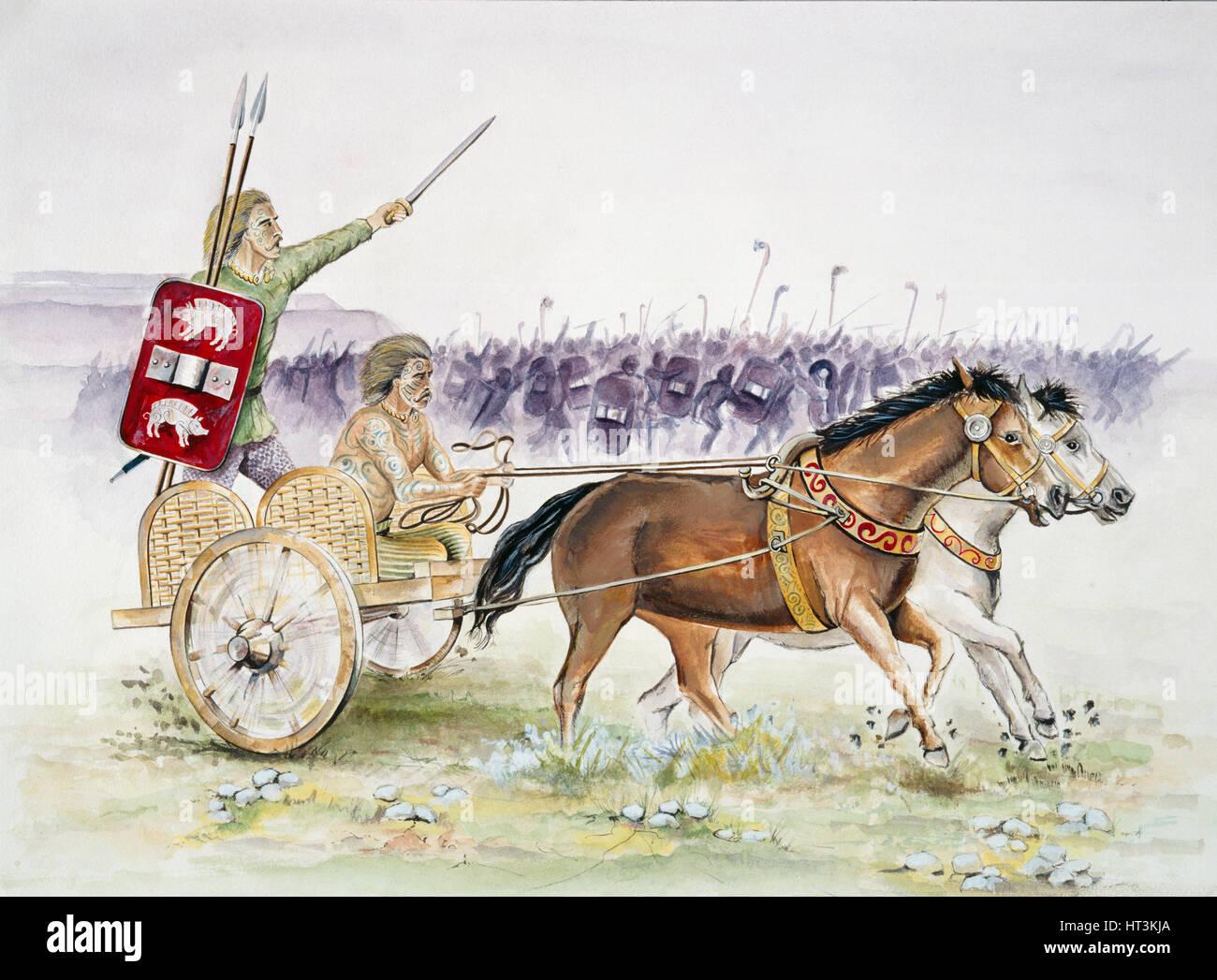 Celtic chariot, Iron Age, (c1990-2010) Artist: Jeremy Richards. Stock Photo
