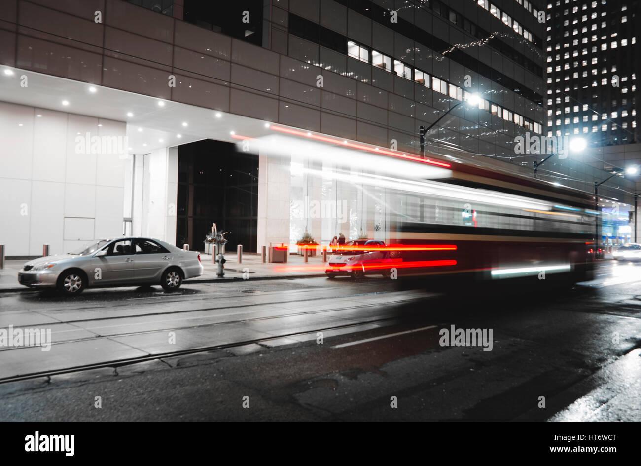 toronto-street-car-in-motion-HT6WCT.jpg