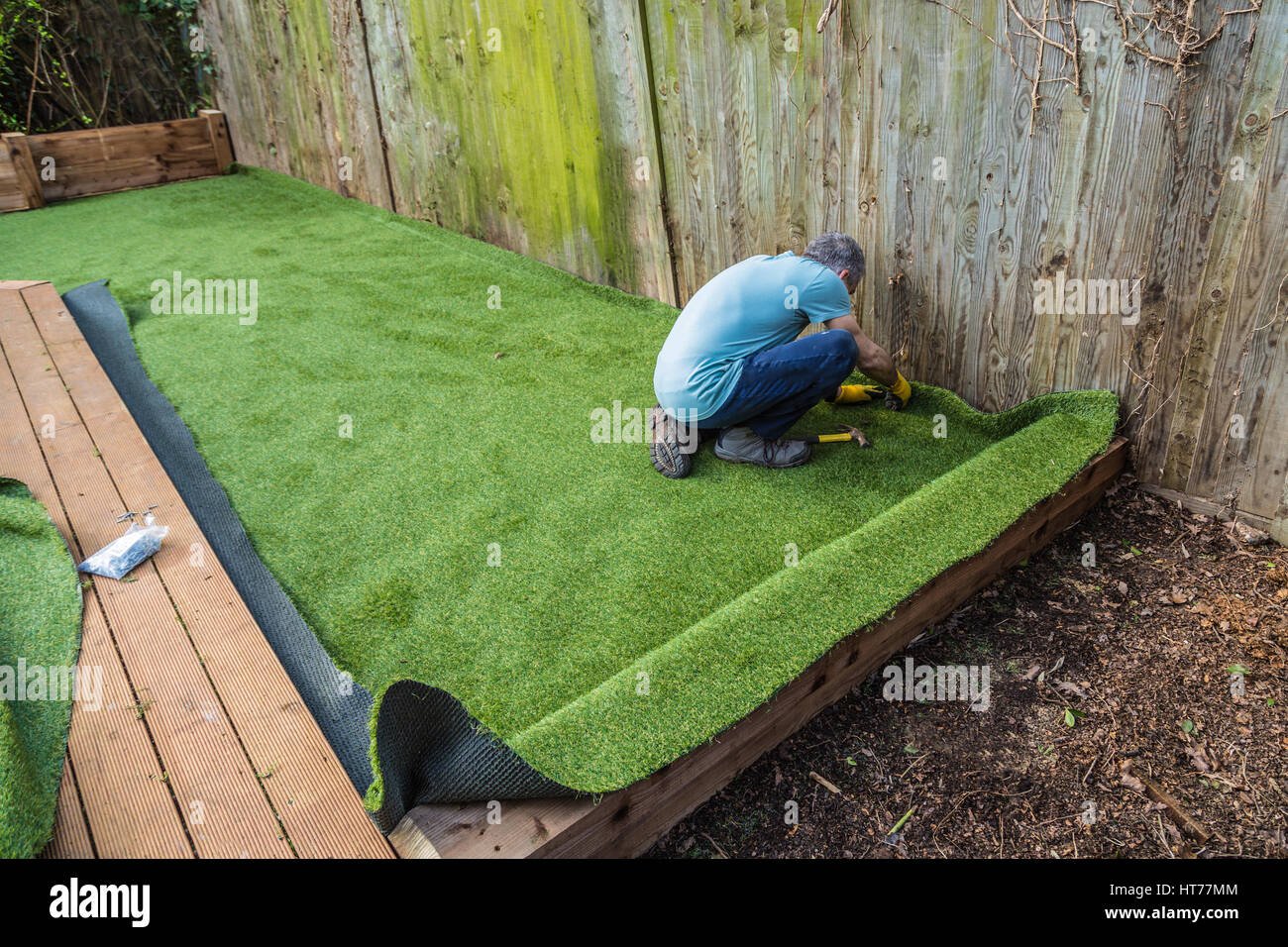 laying artificial turf instructions