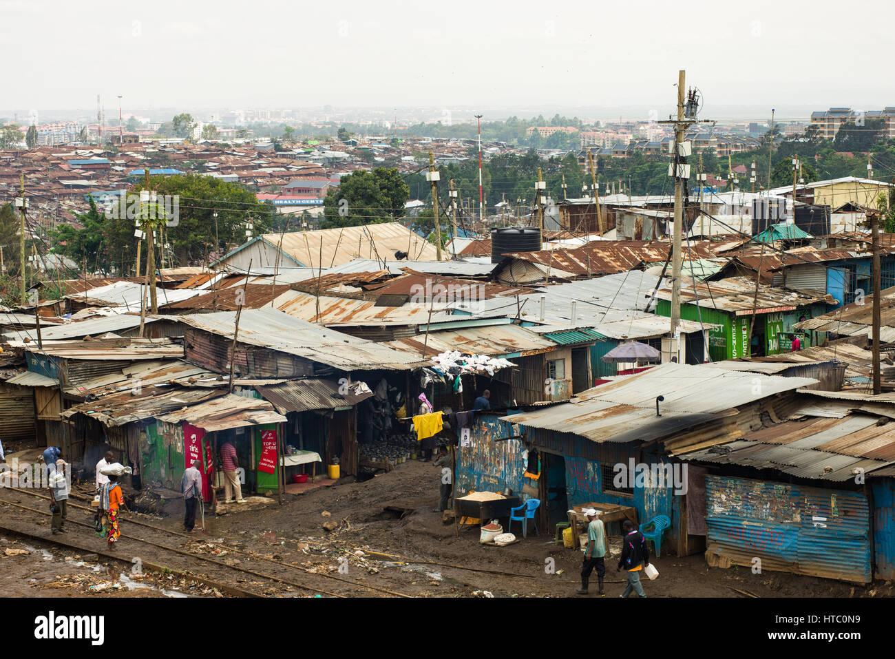 inhabitants-of-kibera-slum-going-about-d