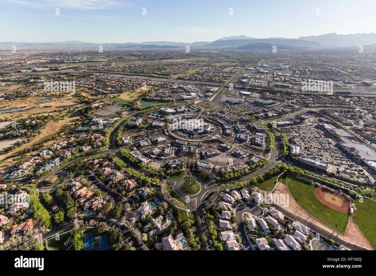 Aerial View Of The Summerlin Neighborhood In Las Vegas