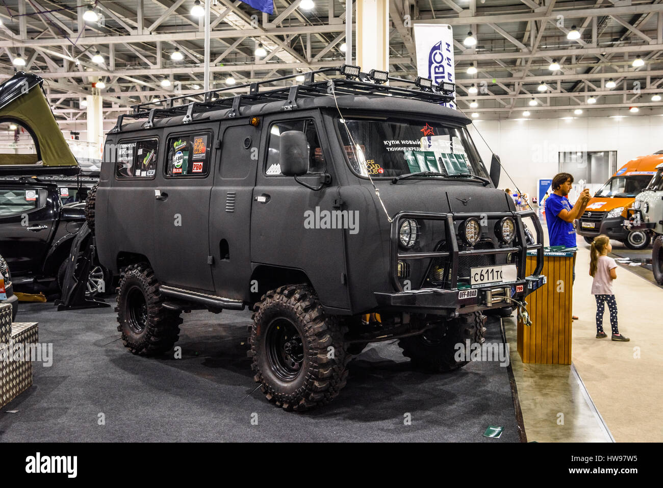 moscow aug 2016 uaz 452 presented at mias moscow international stock photo royalty free. Black Bedroom Furniture Sets. Home Design Ideas